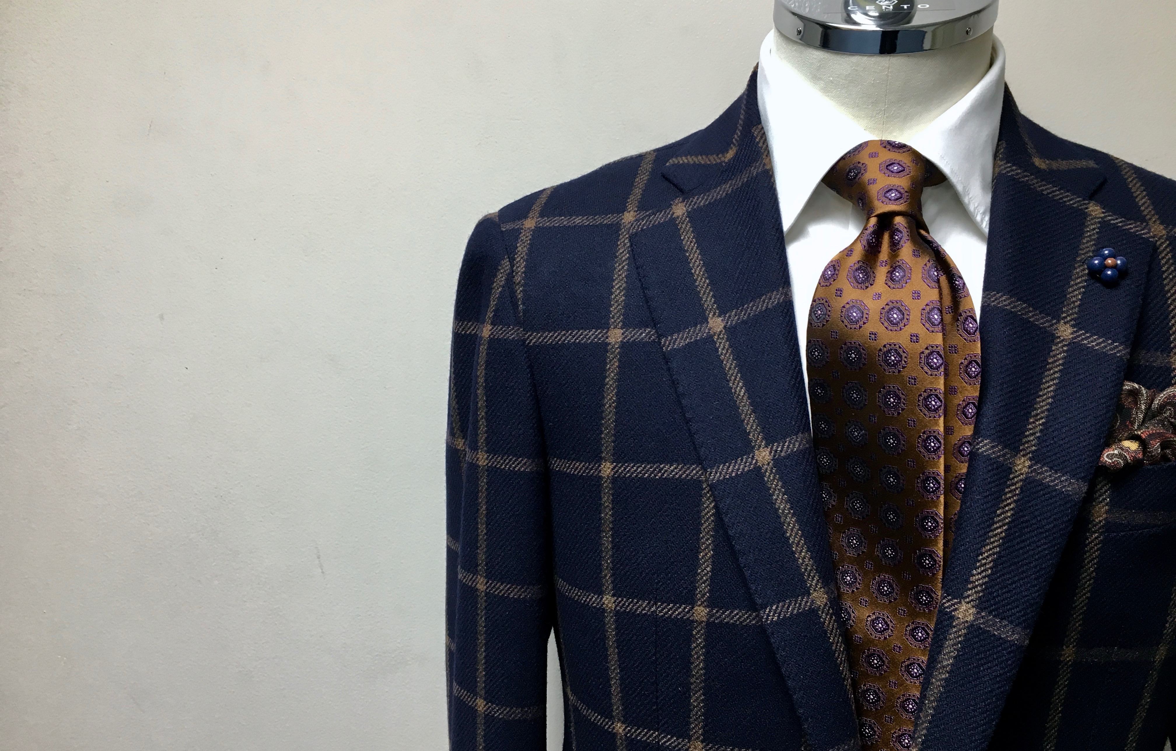 CANONICO/カノニコ☆Navy×Windowpane