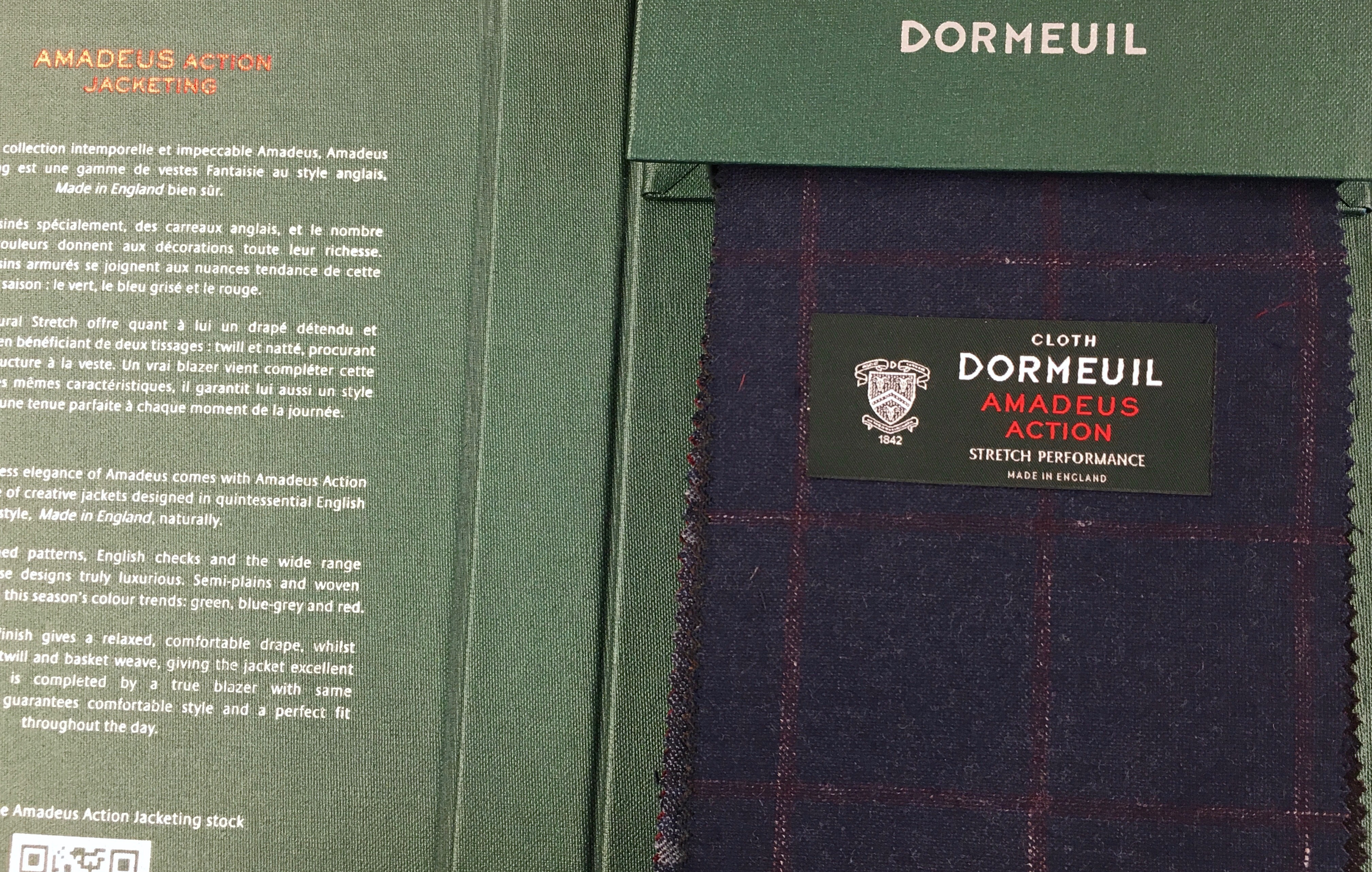 DORMEUIL/ドーメル☆19AW新作『AMADEUS ACTION JACKETING』