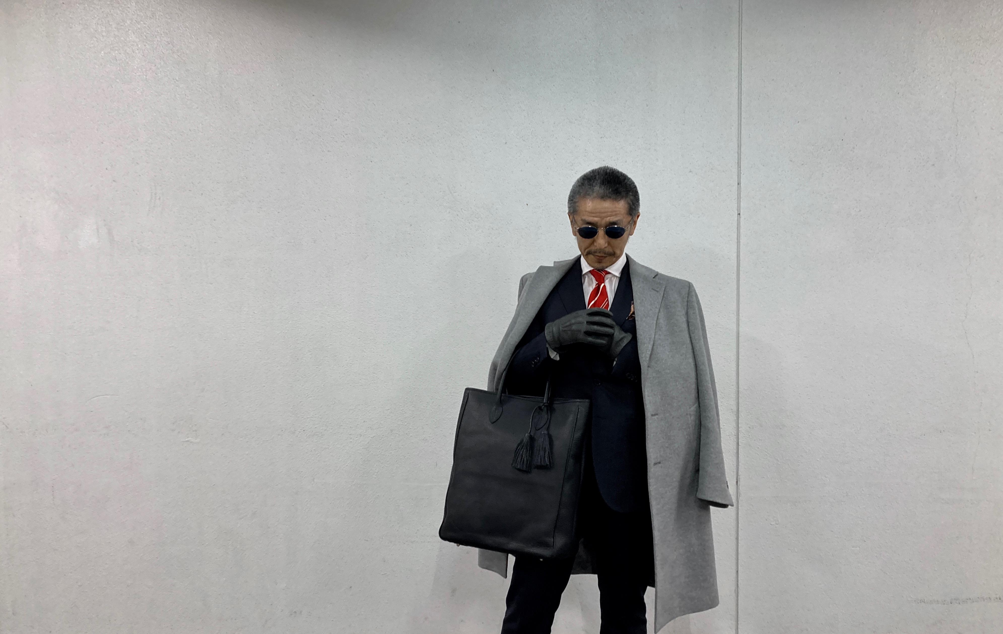ACATE/アカーテ☆SIROCCO/シロッコ☆黒・縦長トートバッグ
